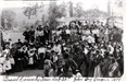 Black and white photo of group of people - 1914 County Fair