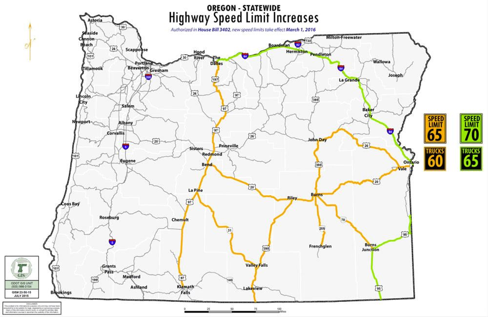 Oregon Speed limits