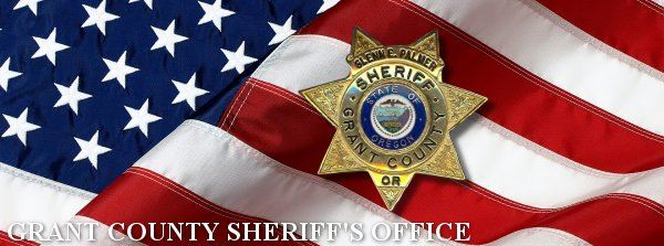 Grant County Sheriffs Office - American Flag and Sheriff Badge