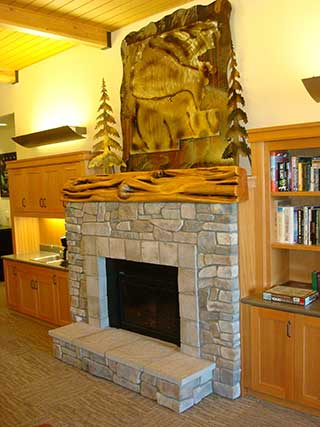 Terminal Main Lobby Fireplace